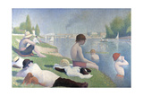 Bathers at Asnières (Baigneurs À Asnière), 1884 Gicléedruk van Georges Seurat