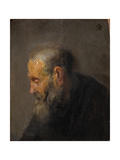 Study of an Old Man in Profile, C.1630 Giclee Print by  Rembrandt van Rijn