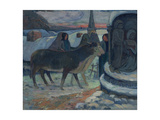 Christmas Night (The Blessing of the Oxe), 1902-1903 ジクレープリント : ポール・ゴーギャン