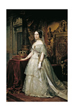 Portrait of Isabella II of Spain Giclee Print by Federico de Madrazo y Kuntz