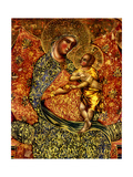 Madonna and Child Enthroned with Two Angels Giclée-tryk af Paolo Veneziano