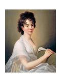 Constanze Mozart Née Weber (1763184), W.A. Mozart's Wife, 1802 Giclee Print by Hans Hansen