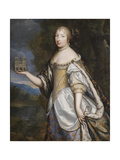 Portrait of Maria Theresa of Spain (1638-168), Queen Consort of France and Navarre Giclee Print by Charles Beaubrun
