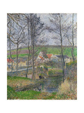 The Banks of the Viosne at Osny in Grey Weather, 1883 Reproduction procédé giclée par Camille Pissarro