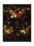 Madonna Surrounded by Flowers, 1662 Giclee Print