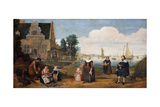 Portrait of a Family, First Third of 17th C Giclee Print by Arent Arentsz