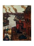 Tatars are Coming! End of XIVth Century, 1909 Giclee Print by Appolinari Mikhaylovich Vasnetsov