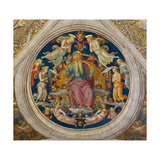 God the Father with Angels (From the Stanza Dell'Incendio Di Borg) Giclee Print by  Perugino