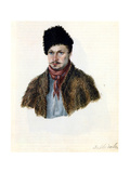 Portrait of Decembrist Vasily Davydov (1793-185), 1839 Giclee Print by Nikolai Alexandrovich Bestuzhev