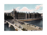 The Conciergerie and the Pont Neuf, Paris, C1900 Giclee Print