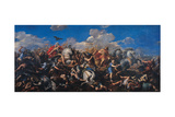 The Battle of Alexander Versus Darius, 1644-1655 Giclee Print by Pietro da Cortona