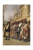 Dervishes' Chorus Begging Alms in Tashkent, 1870 Giclee Print by Vasili Vasilyevich Vereshchagin