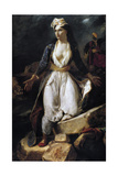 Greece on the Ruins of Missolonghi, 1826 Giclee Print by Eugène Delacroix