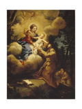 The Vision of Saint Francis, 1640S Giclee Print by Pietro da Cortona