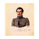 Portrait of Decembrist Ivan Pushchin (1798-185), 1837 Giclee Print by Nikolai Alexandrovich Bestuzhev