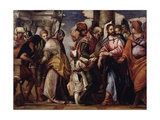 Christ and the Woman Taken in Adultery Giclee Print by Paolo Veronese