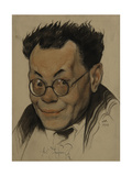 Portrait of the Author Alexei M. Remizov (1877-195), 1923 Giclee Print by Nikolai Andreevich Andreev