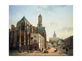 View of the Choir and Tower of Utrecht Cathedral, C. 1829 Giclée-Druck von Jan Hendrik Verheyen