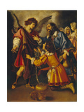 Tobias's Farewell to the Angel, First Third of 17th C Giclee Print by Giovanni Bilivert