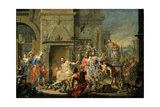 Manius Curius Dentatus Refusing the Bribes of the Samnites Giclee Print by Johann Georg Platzer