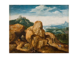 Landscape with Flight into Egypt, Ca 1545 Giclee Print by Cornelis Massys