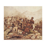 The Battle of the Valerik River on July 11, 1840, 1840 Giclee Print by Mikhail Yuryevich Lermontov