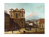 The Freyung Iin Vienna, from the Northwest, Between 1758 and 1761 Giclee Print by Bernardo Bellotto