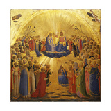 The Coronation of the Virgin, 1434-1435 Giclée-tryk af Fra Angelico