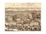 German Quarter (Nemetskaya Slobod) in Moscow (Right Par), 1705 Giclee Print by Adriaan Schoonebeek
