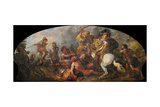Alexander the Great Hunting Lions, Ca 1679 Giclee Print by Charles de La Fosse