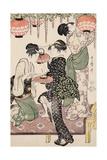 Teahouse Girls under a Wistaria Espalier, 1795 Giclee Print by Kitagawa Utamaro
