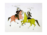 Conflict Between General George Custer (1839-187) and Crazy Horse, Sioux (Dakot) Indian Giclee Print