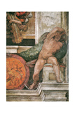Detail of the Sistine Chapel Ceiling in the Vatican, 1508-1512 Giclee Print by  Michelangelo Buonarroti