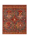 Sakya Order, Four Mandalas of the Vajravali Series (Thangk) Giclee Print