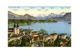 Lucerne and the Alps, Switzerland, 20th Century Giclee Print