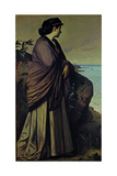 On the Seashore (Modern Iphigeni), 1875 Giclee Print by Anselm Feuerbach