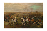 Hunting Party with the Emperor Alexander III and Empress Maria Feodorovna, 1880s Giclee Print