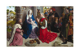 The Adoration of the Kings (Monforte Alta), Ca 1470 Giclee Print by Hugo van der Goes
