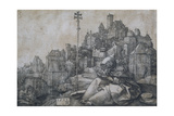 Saint Anthony in Front of the Town, 1519 Giclee Print by Albrecht Dürer