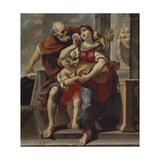 Hagar Leaves the House of Abraham Giclée-tryk af Pier Francesco Mola