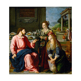 Christ in the House of Martha and Mary, 1605 Giclee Print by Alessandro Allori