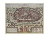 The Jerusalem Map (From: Jansson, Jan. Illustriorum Hispaniae Urbium Tabulae, Amsterdam, 165), 1657 Giclee Print by Frans Hogenberg