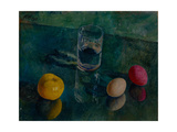 Still Life Against a Green Background, 1924 Giclee Print by Kuzma Sergeyevich Petrov-Vodkin