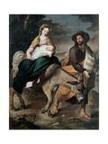 The Flight into Egypt, Between 1645 and 1649 Giclée-tryk af Bartolomé Estebàn Murillo