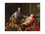 King Gustav III of Sweden and His Brothers, 1771 Giclee Print by Alexander Roslin