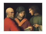 The Three Ages of Man (Reading a Son), C. 1501 Giclee Print by  Giorgione