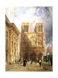 The Cathedral of Notre Dame, 1836 Giclee Print by Thomas Shotter Boys