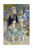 Mother and Children (La Promenad), 1874-1876 Giclee Print by Pierre-Auguste Renoir