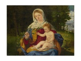 The Virgin and Child with a Shoot of Olive, Ca 1515 Giclee Print by Andrea Previtali