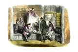 Buying Camlets in a Shop, Yokohama, Japan, 1865 Giclee Print